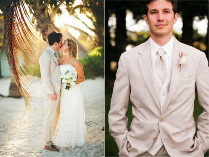 Сочетание костюма жениха со свадебным платьем