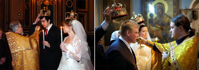 Проведение обряда венчания