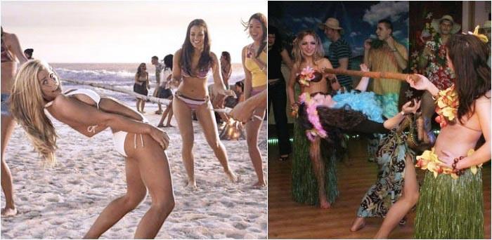 Конкурс в стиле гавайского девичника – лимбо