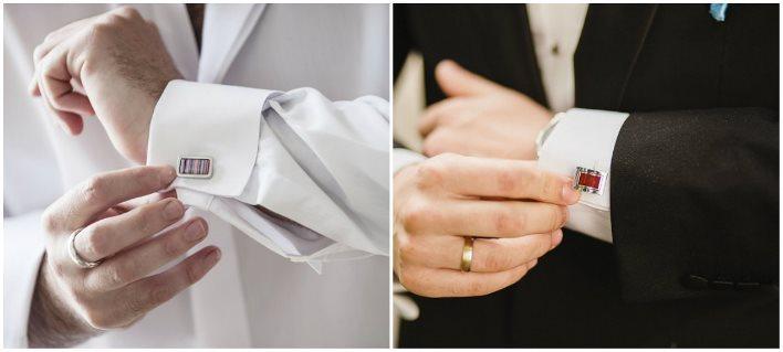 Симметричные и ассиметричные свадебные запонки