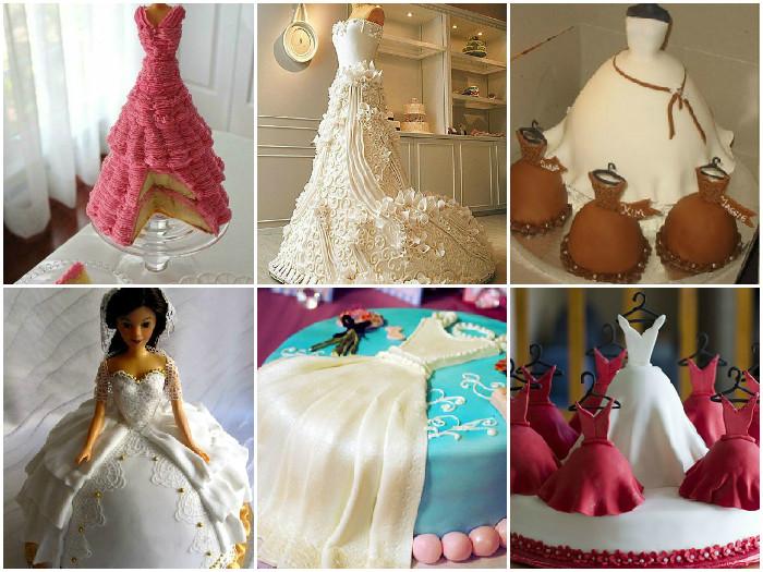 Торт со свадебным платьем