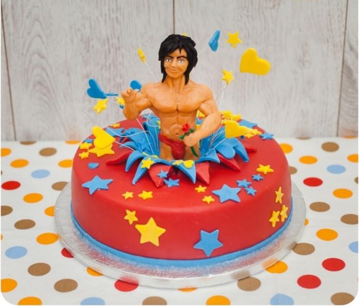 Торт для девичника с голым мужчиной