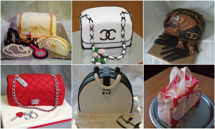 Праздничный десерт в виде сумочки для девичника