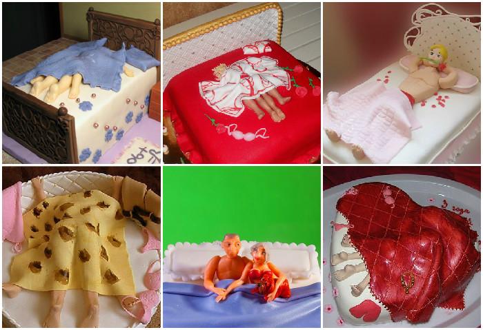 Торт-кровать на девичник