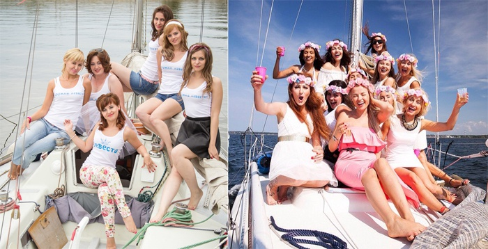 Яхта – отличное место для вечеринки