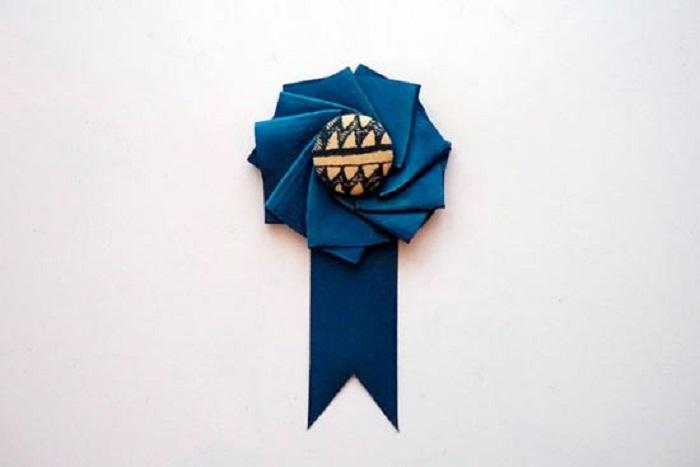 Бутоньерка-медаль для свидетелей