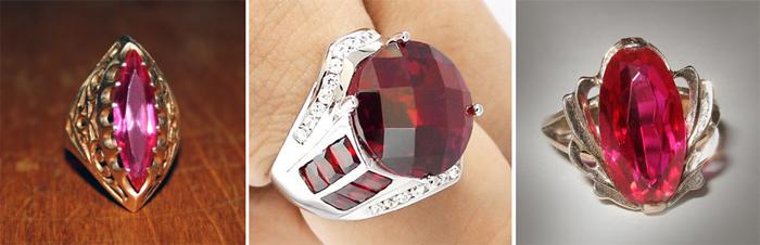 Перстень с рубином для жены в честь годовщины