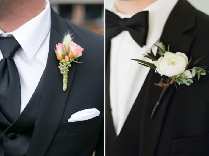 Бутоньерка в тон свадьбы