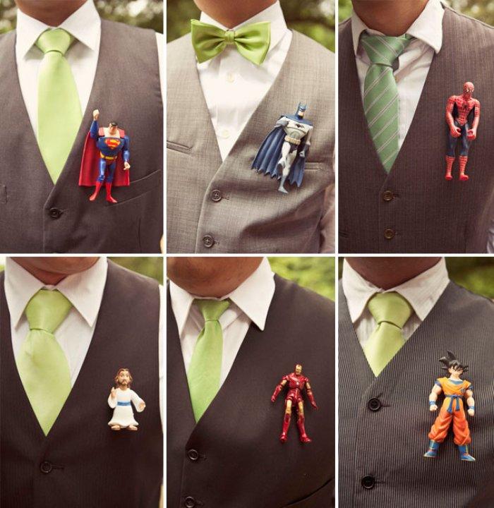Образ жениха: украшения на свадьбу с супергероями