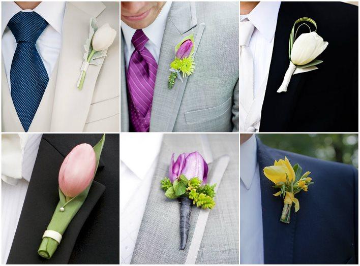 Тюльпаны как основа для бутоньерок