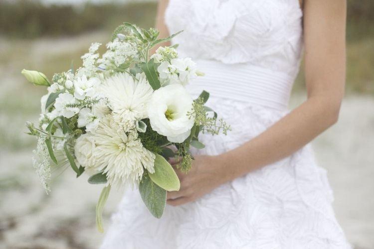 Белые свадебные цветы