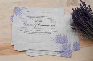 Оформление приглашения на свадьбу
