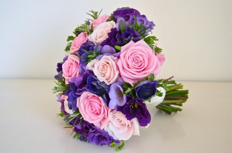 Сочетание фиолетового и розового цветов
