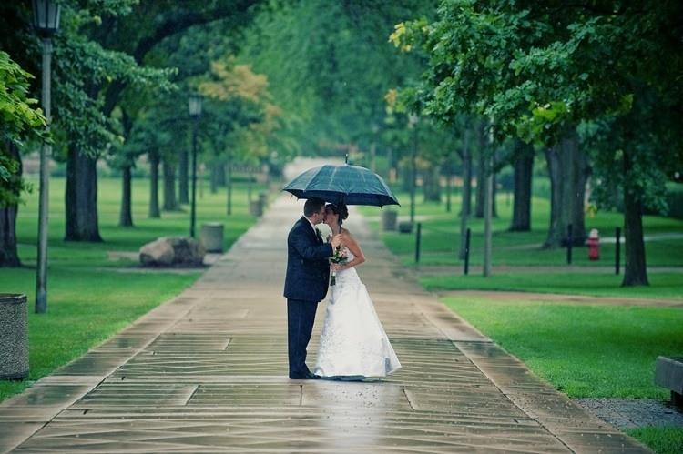 Фото с зонтом издали