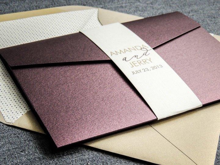 Конверты с приглашениями на свадьбу