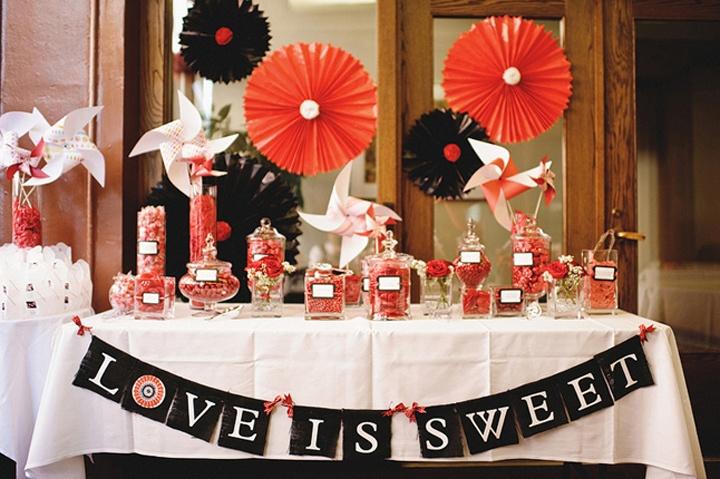 Оформление стола для угощений гостей