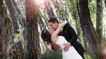 Красивая свадьба в лесу