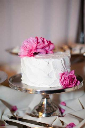 Одноярусный свадебный торт