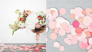 Декор бумажными цветами